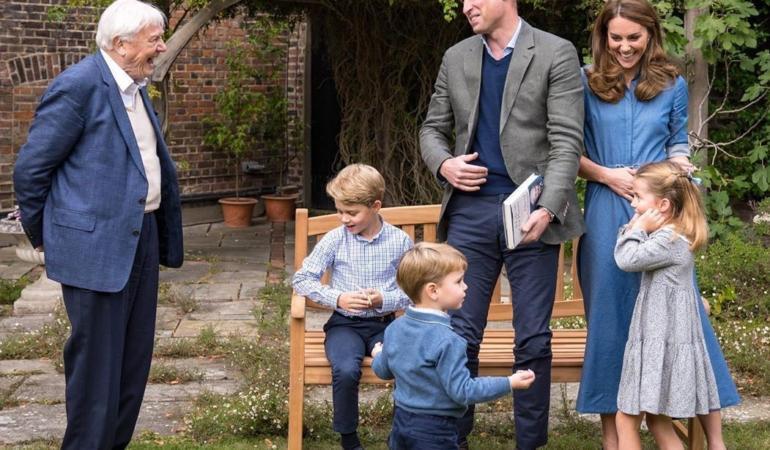 Dialog între copiii prințului William și Sir David Attenborough