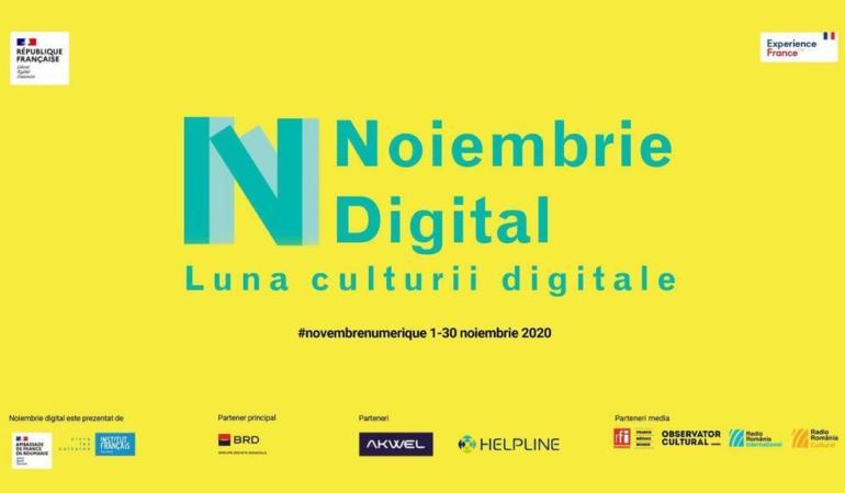 Noiembrie este luna Culturii Digitale la Institutul Francez. Ce evenimente se organizează?