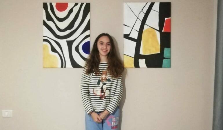 Patricia și pasiunea ei pentru pictură