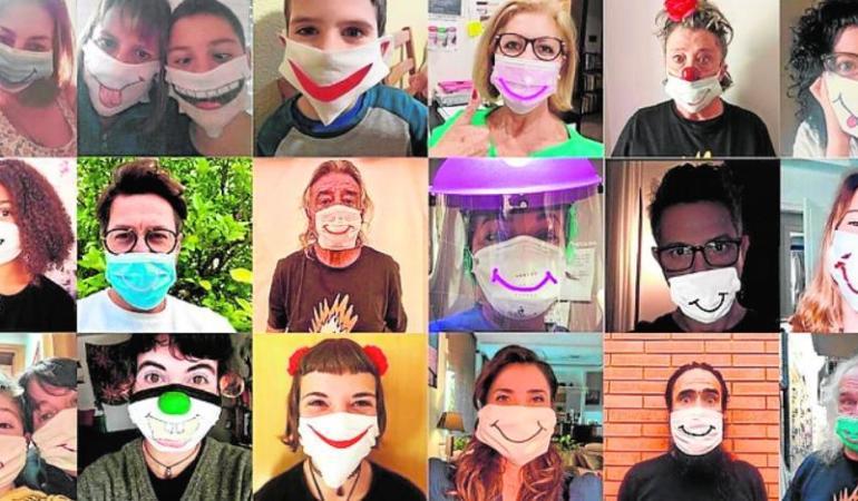 """""""Măști care ascund zâmbete"""" ridică moralul elevilor spanioli. O campanie de suflet."""
