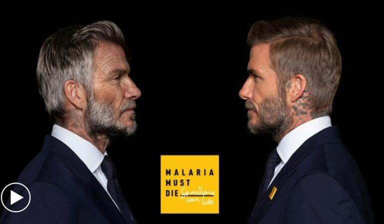 Un David Beckham de 70 de ani vorbește despre o lume fără malarie