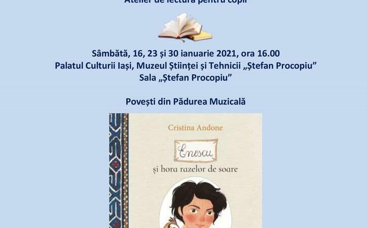 Noi ateliere pentru copii organizate la Palatul Culturii din Iași