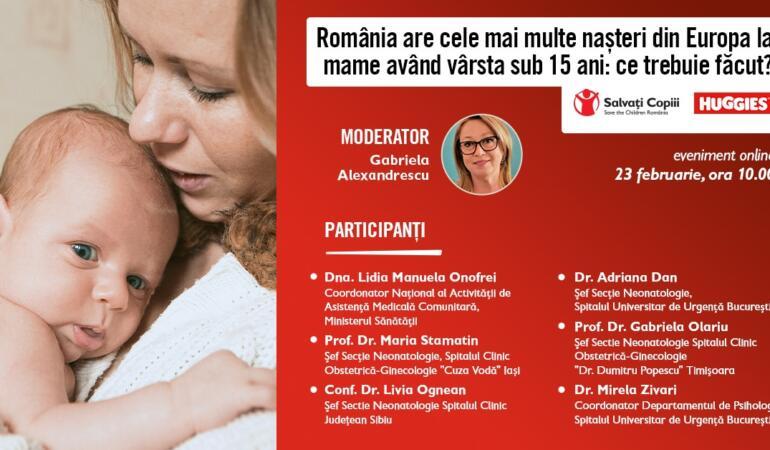 Mame minore în România, dezbatere online organizată de Salvați Copiii