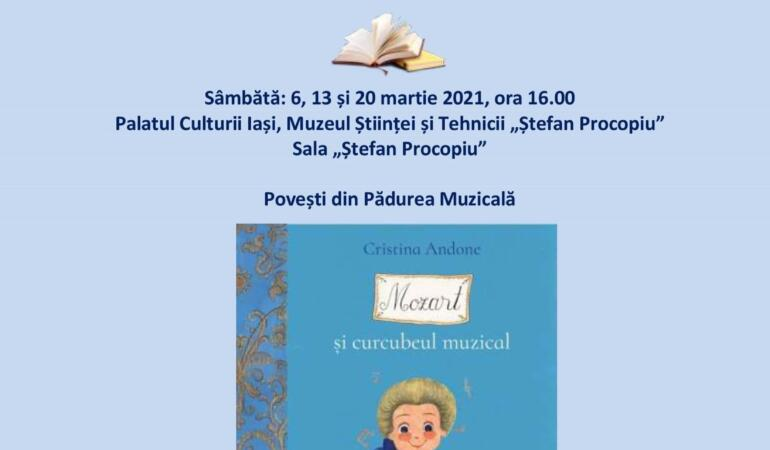 """""""Mozart și curcubeul fermecat"""", noi ateliere de lectură la Palatul Culturii din Iași"""