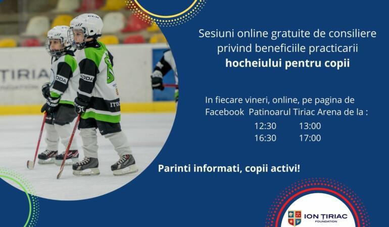 Fundația Țiriac invită copiii la cursuri gratuite de hochei pe gheață