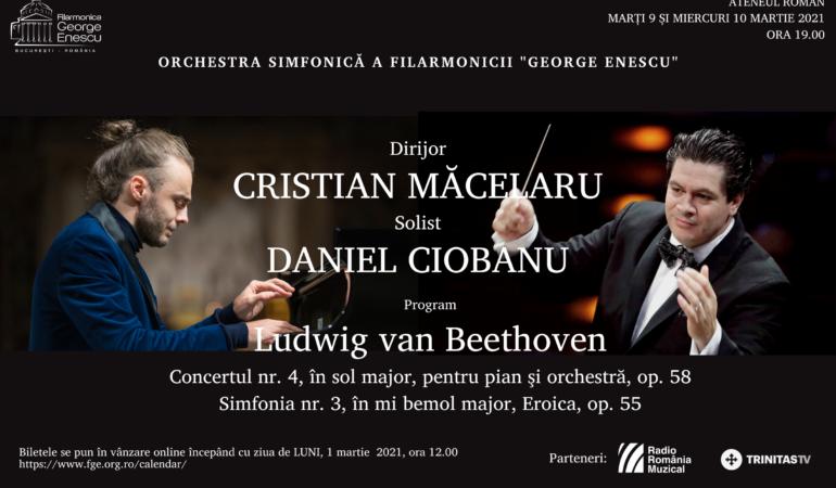 Cristian Măcelaru și Daniel Ciobanu vin într-un concert excepționalde Beethoven