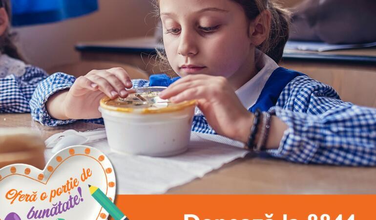 """""""Porția de bunătate"""" – o campanie lansată de World Vision România"""