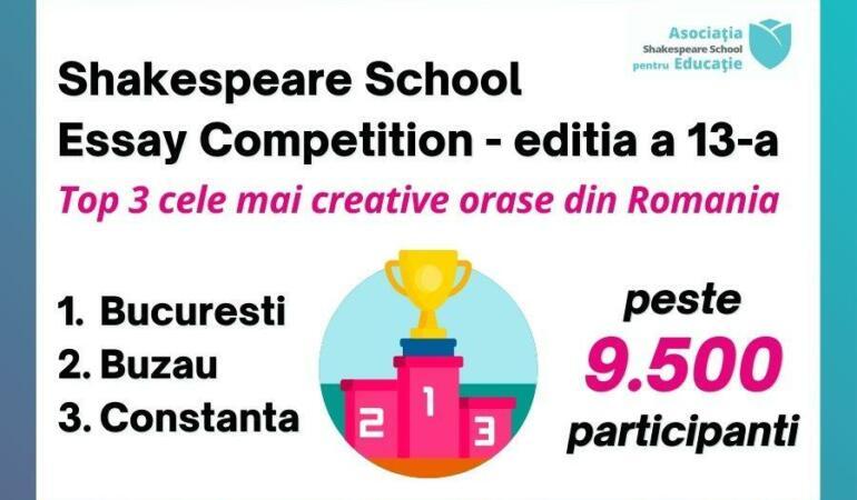 Peste 9.500 de elevi au participat la un concurs de creație în limba engleză. Aflați cine primește premii