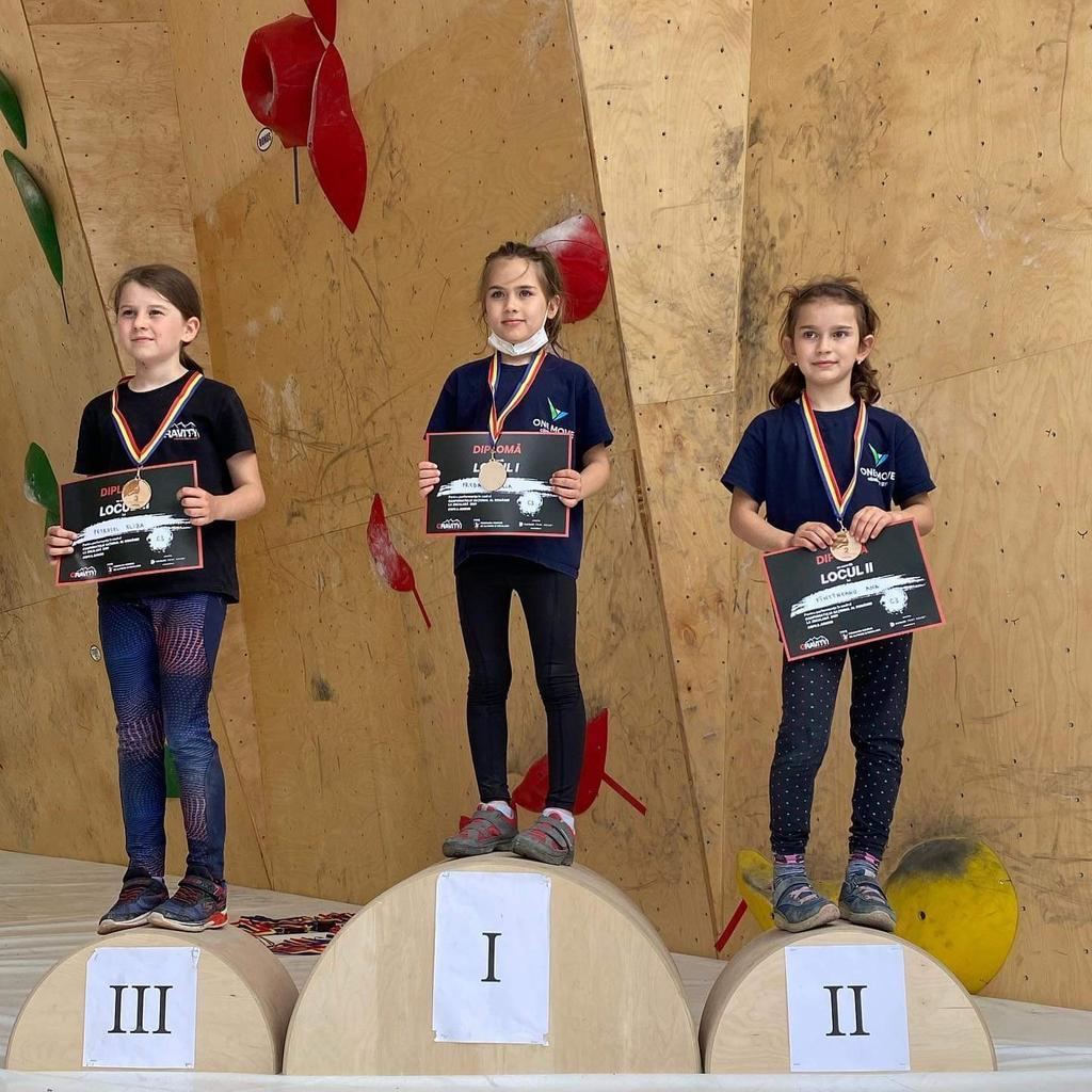 Copiii din Timișoara au obținut 16 medalii la Campionatul Național de Escaladă