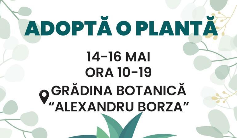 """""""Adoptă o plantă"""", o activitate desfășurată la Grădina Botanică """"Alexandru Borza"""""""