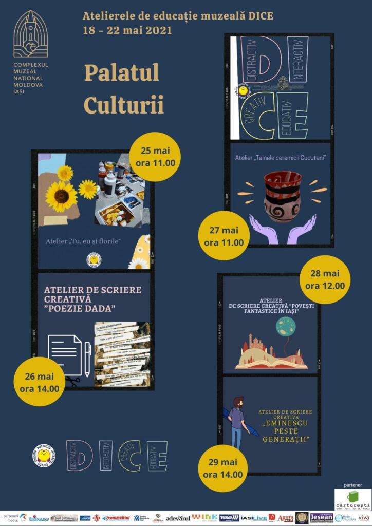 Ateliere de scriere creativă și pictură la Palatul Culturii din Iași