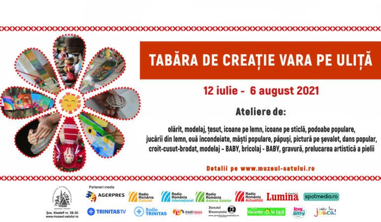 """""""Vara pe uliță"""", tabără de creație pentru copii la Muzeul Național al Satului """"Dimitrie Gusti"""""""