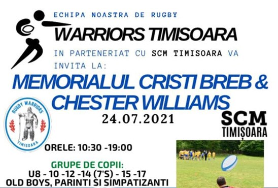 Memorialul Cristi Breb & Chester Williams. Sunteți invitați la o zi plină de rugby