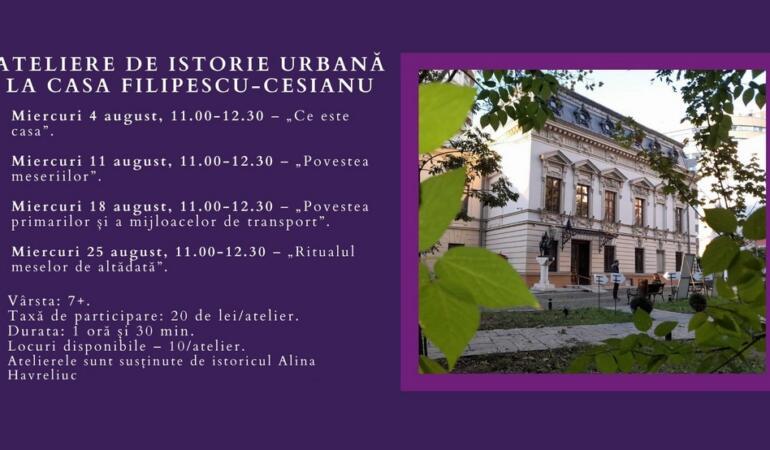 Micii bucureșteni învață despre arhitectura orașului lor. Ateliere la Casa Filipescu – Cesianu