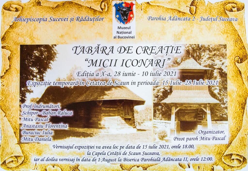 """Tabăra micii iconari"", expoziție la Cetatea de Scaun"