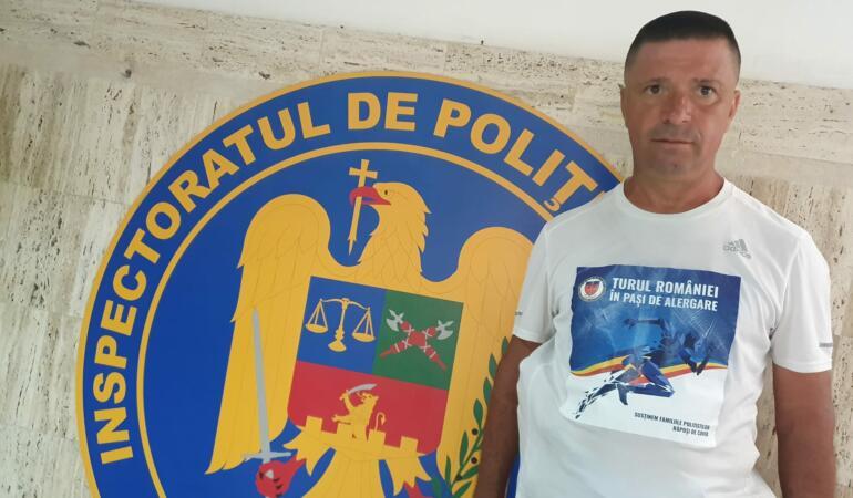 Turul României în pași de alergare. Campania pentru copiii polițiștilor decedați de COVID-19