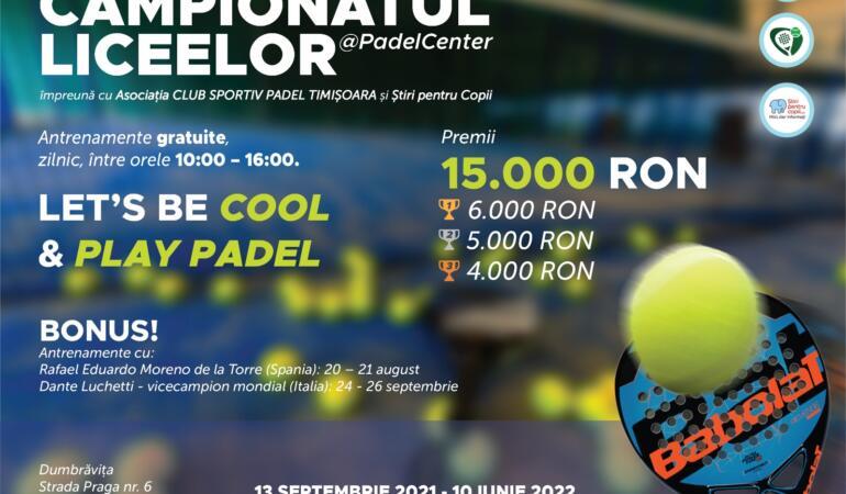 PREMIERĂ NAȚIONALĂ. Începe Campionatul Liceelor @padelcenter. Liceenii descoperă cel mai nou sport cu racheta