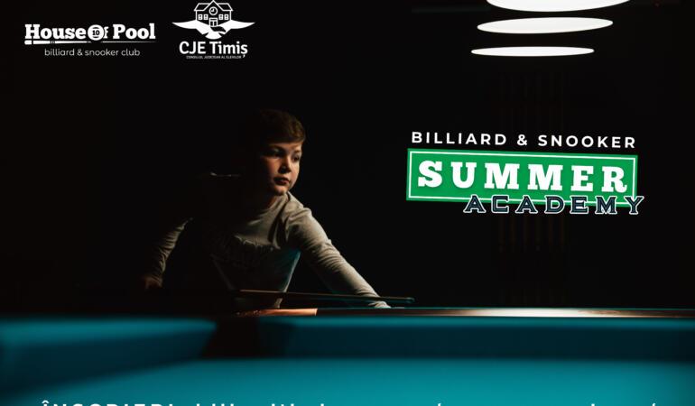 Billiard & Snooker – Summer Academy. Școala micilor jucători de biliard timișoreni
