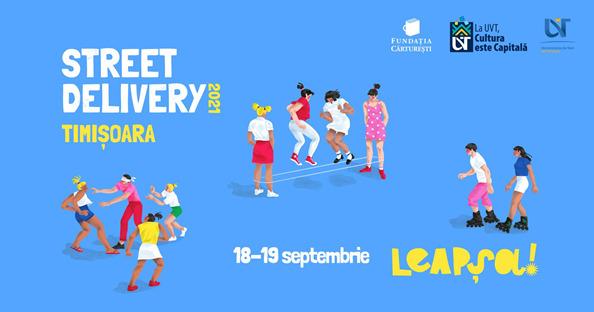 Ateliere de imaginație și leapșa pe stradă pentru copii la Street Delivery Timișoara