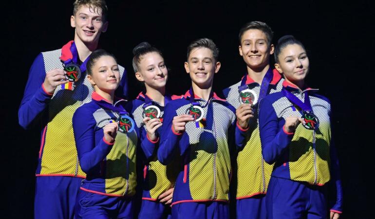 Gimnastică aerobică: medalii de aur, argint și bronz pentru juniorii români