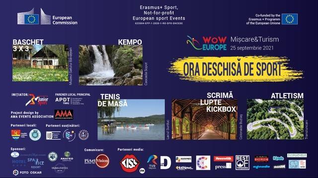 """Elevii din Timiș iau parte la """"Ora deschisă de sport"""""""