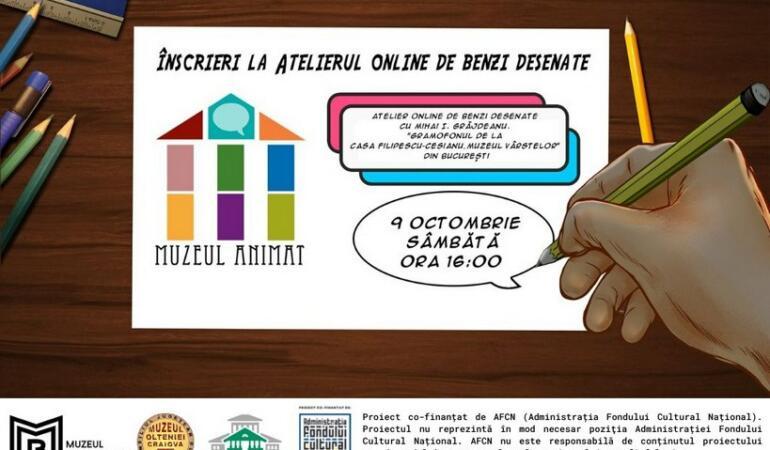"""""""Muzeul animat"""". Ateliere online gratuite pentru copii"""